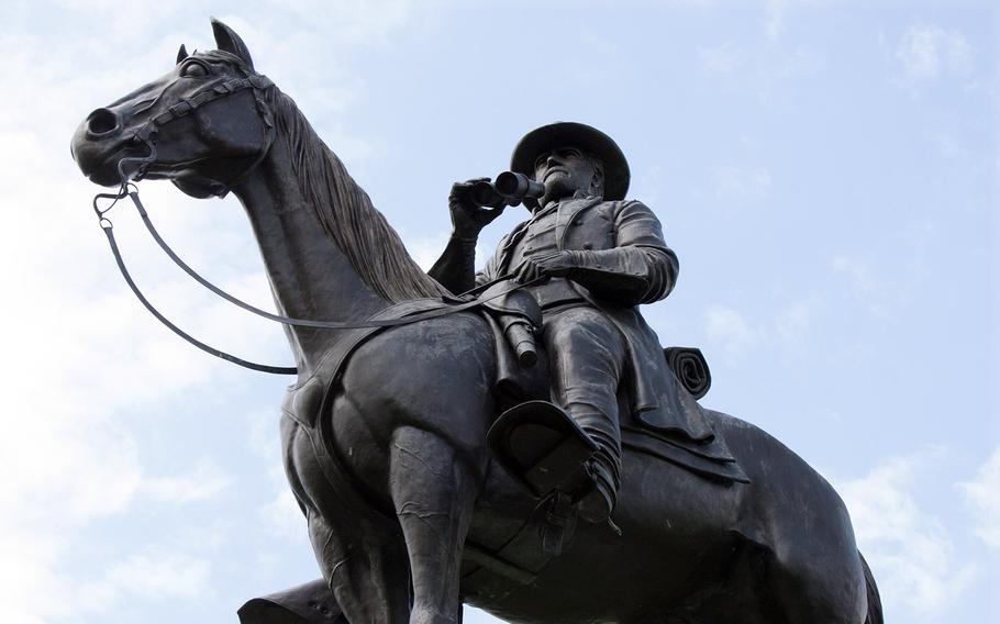 The statue of Confederate commander Gen. Robert E. Lee at the Antietam National Battlefield Park.