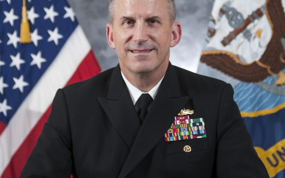 """Task Force 70 commander Rear Adm. Charles Williams was relieved Sept. 18, 2017, by 7th Fleet commander Vice Adm. Phil Sawyer """"due to a loss of confidence"""" in his ability to command. Williams and Destroyer Squadron 15 commander Capt. Jeffrey Bennett each lost their jobs in the wake of two deadly collisions involving 7th Fleet destroyers."""