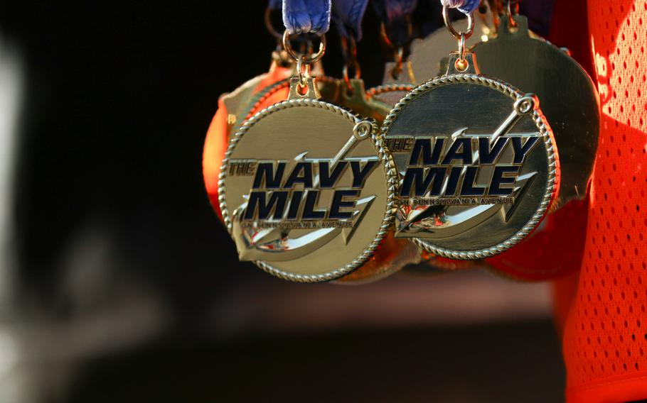 The annual Navy Mile fun run took place in Washington on Oct. 1, 2017, with runners of all ages turning out to participate.
