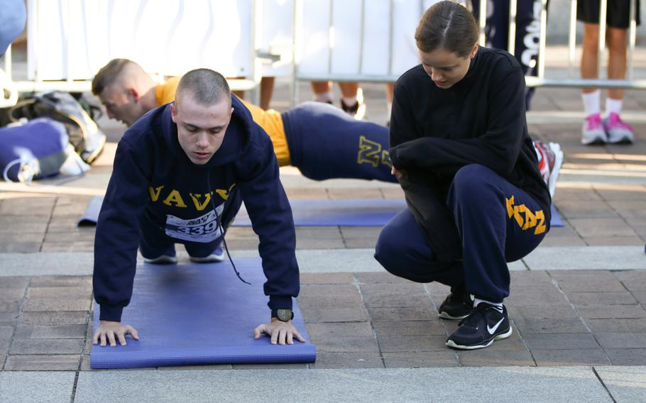 The annual Navy Mile fun run took place in Washington on Oct. 1, 2017, with runners of all ages turning out to participate. In addition to the mile-long race, a push-up challenge tested participants' upper body strength.