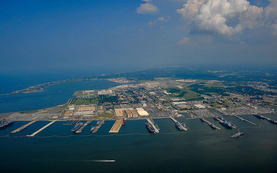 Naval Station Norfolk, the largest naval base in the world, in Virginia on July 7, 2011.