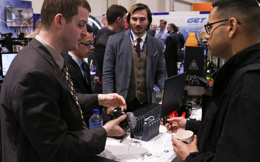 The Navy League's 2018 Sea-Air-Space Exposition at the National Harbor in Maryland., ran from April 9-11, 2018. The expo featured largely military technology and unclassified defense programs.