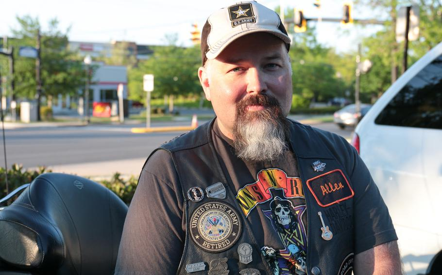 Retired Army Staff Sgt. Allen Foster will miss this year's Ride of the Patriots, but has participated in the annual Memorial Day weekend motorcycle ride for the past five years.