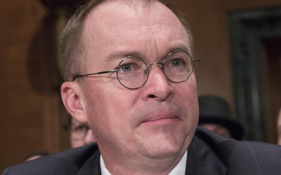 Mick Mulvaney, director of the Office of Management and Budget and acting director of the Consumer Financial Protection Bureau, at a Senate hearing in April, 2018.