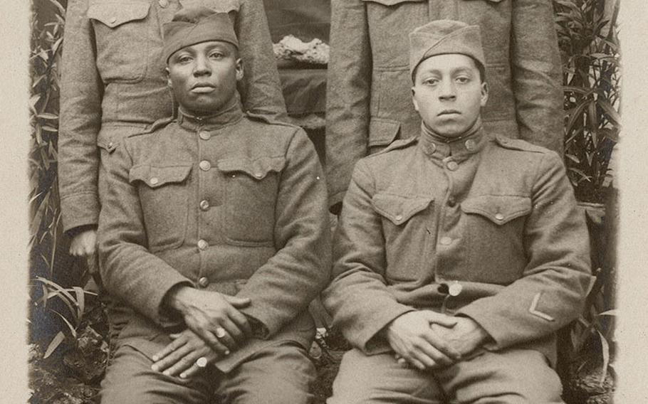 Black American soldiers in France in 1918.