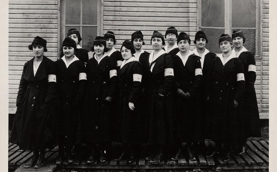 U.S. Signal Corps women telephone operators in World War I.