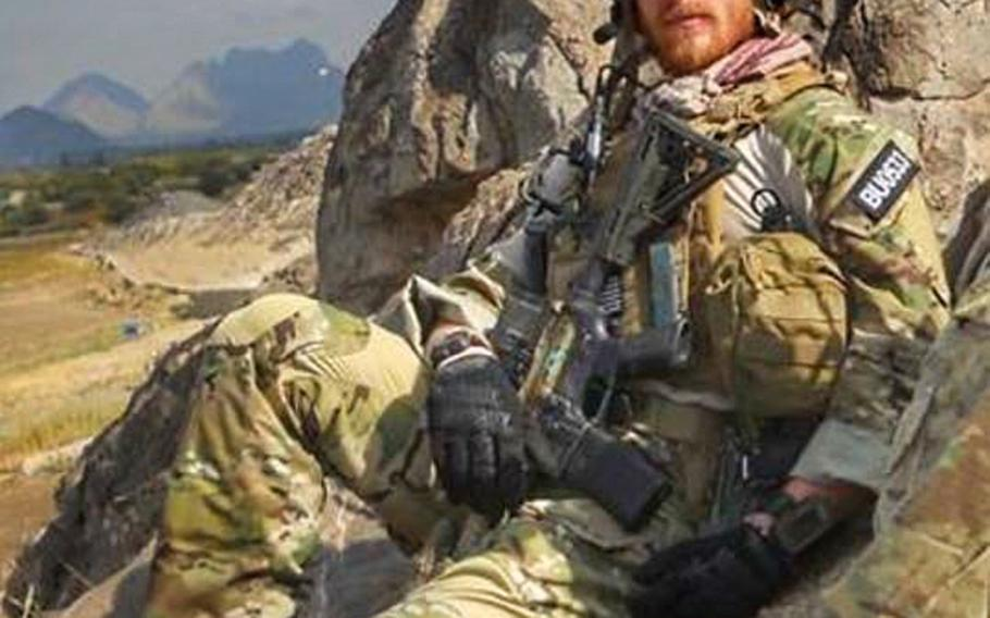 Jared Bullock on deployment in Afghanistan in 2013.