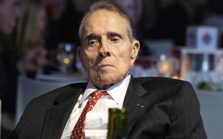 Former Sen. Bob Dole at the Elizabeth Dole Foundation's Heroes and History Makers event in Washington, D.C., Nov. 29, 2018.