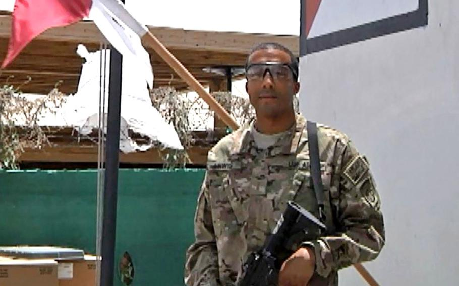 Then-2nd Lt. Antoine Lewis sends a greeting to Chicago, Illinois from Forward Operating Base Fenty, Afghanistan for Independence Day 2012. The 39-year-old Army captain was among the 157 people killed in a plane crash in Ethiopia on Sunday.