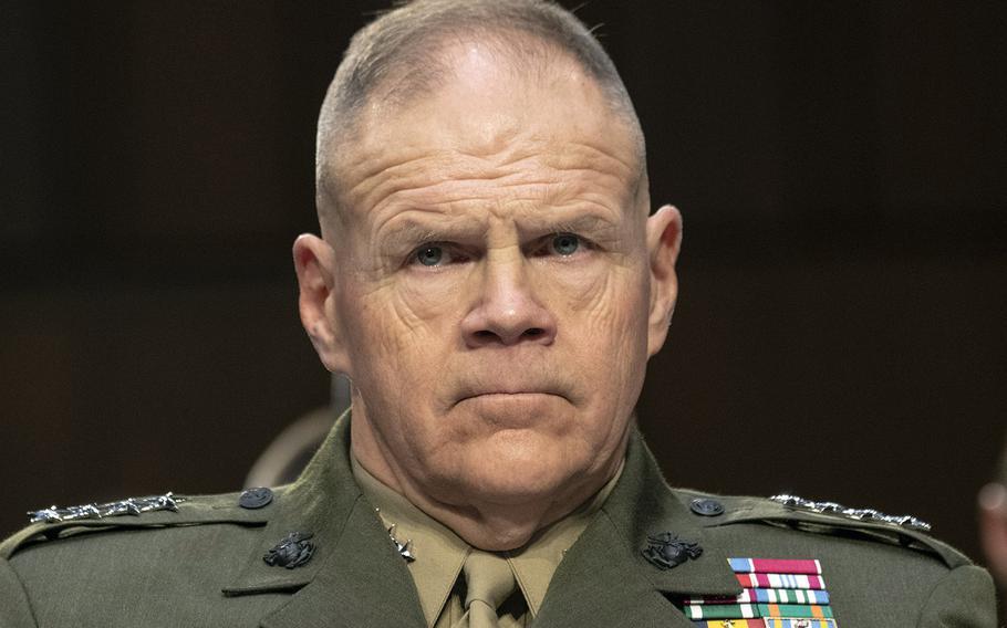 Marine Corps Commandant Gen. Robert Neller, at a Senate hearing in march, 2018.