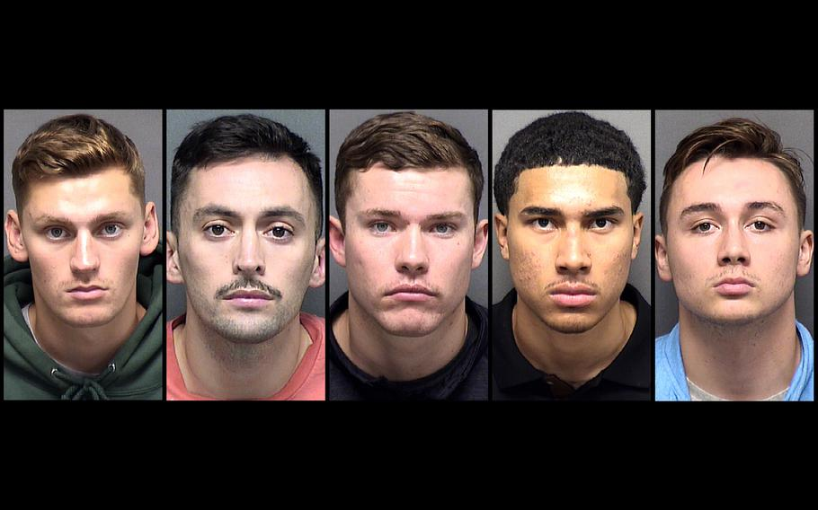 From Left: Dominick Burns, Mauricio Chaparro, Anthony Cooney, Kenneth Johnson and Kyle Tuschmann.