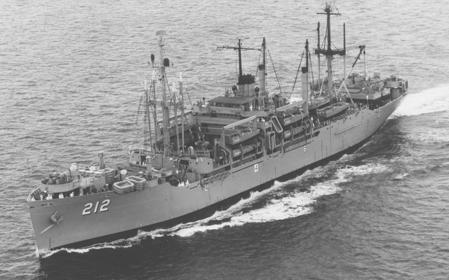 The attack transport USS Montrose in 1969. The crew of the Montrose are among those eligible for benefits for exposure to Agent Orange during the Vietnam War.