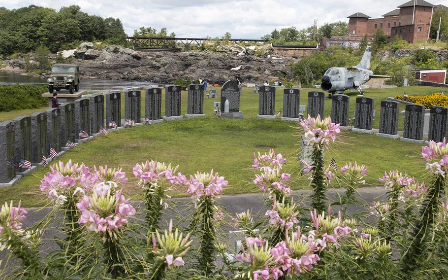 The Veterans Memorial Park in Lewiston, Maine, in August, 2019.