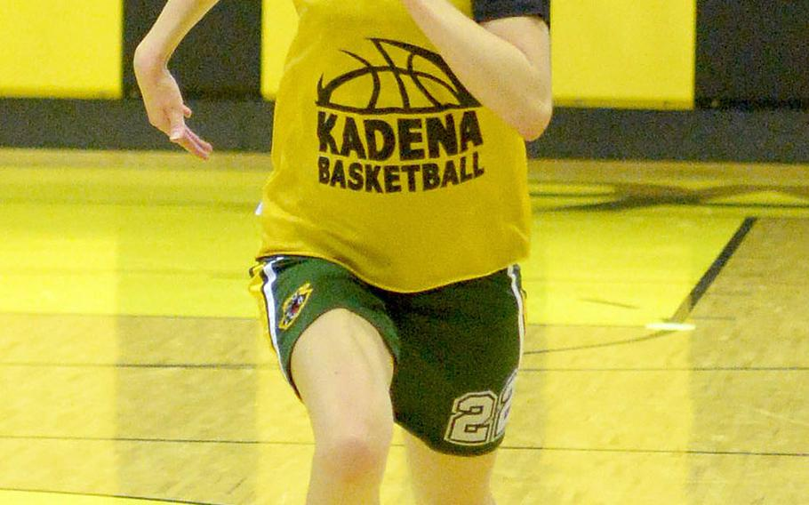 Sidelined for the start of practice in late November by a leg stress fracture, Kadena senior Lydia Rice was given medical clearance to start workouts on Tuesday.