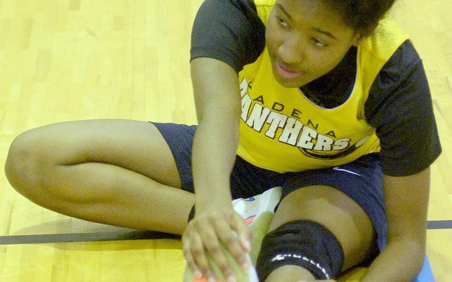 Feared lost for the season with a torn left ACL, Kadena senior Atiria Simms nonetheless received medical clearance to resume practice on Tuesday.