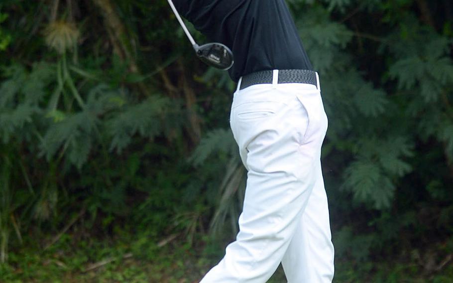 Kadena senior Beau Black has gone back and forth with his Kubasaki upperclass counterpart Bryce Tobin all season, and will battle him Tuesday at Kadena's Banyan Tree Golf Club in the Okinawa district championship.