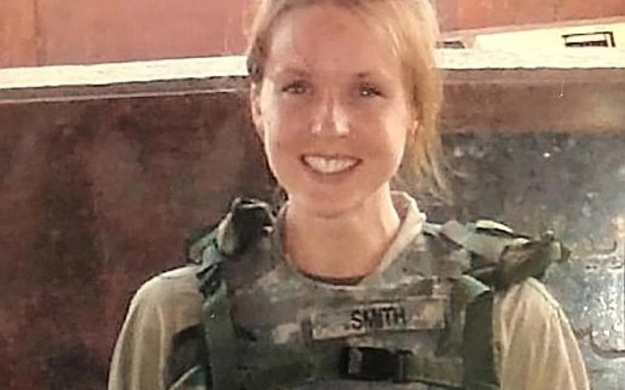 U.S. Navy Chief Petty Officer Shannon Kent at her first combat deployment to Balad, Iraq in 2007.