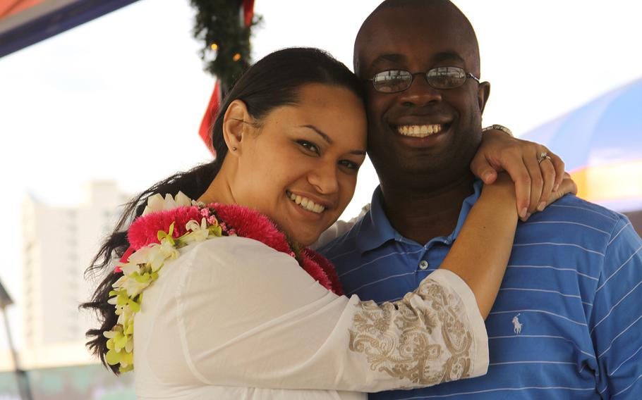 Rebekah Daniel and her husband Walt Daniel pose during happier times while living in Honolulu, Hawaii in 2009. Rebekah, known as Moani, died in childbirth at Naval Hospital Bremerton in Washington in March 2014.
