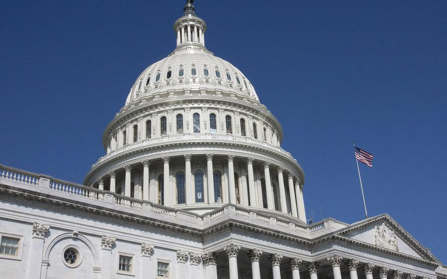 The newly-refurbished U.S. Capitol dome.