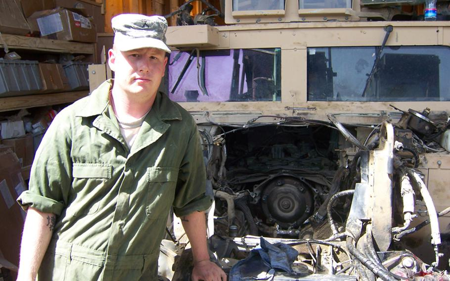 As a mechanic with the 32nd Engineer Battalion, Jonathan spent most of his time in Afghanistan inside the wire working on vehicles.