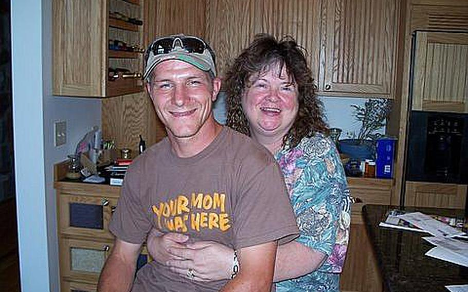 Army Staff Sgt. Dennis J. Hansen, 31, was killed in Afghanistan in 2009. His mother Bonnie Hansen, shown here with Dennis, was at his side at Landstuhl Regional Medical Center in Germany, after Hansen was declared brain dead. Some of Hansen's organs were donated to gravely ill patients in Europe.