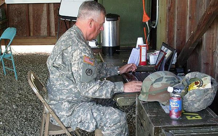 Sgt. Mathew Niblack worked as a casualty reporter during a deployment to Kuwait.