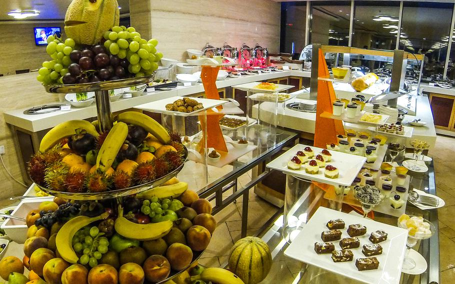 The Iftar spread at Elite Crystal hotel in Juffair offers traditional Arabic cuisine, including a variety of desserts.