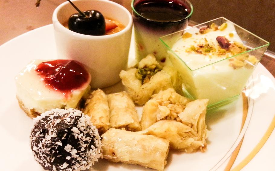 A variety of small but scrumptious traditional Arabic sweets and desserts are usually served at an Iftar dinner.