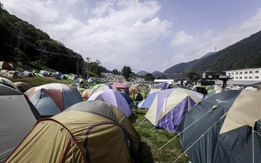 If you choose to tent camp, arrive early -- the spots with level ground will be the first to go.