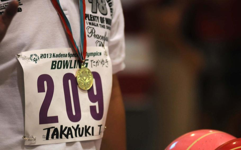 Athletes at the 14th-annual Kadena Special Olympics bowling event in Chatan, Okinawa, competed for bronze, silver and gold medals.