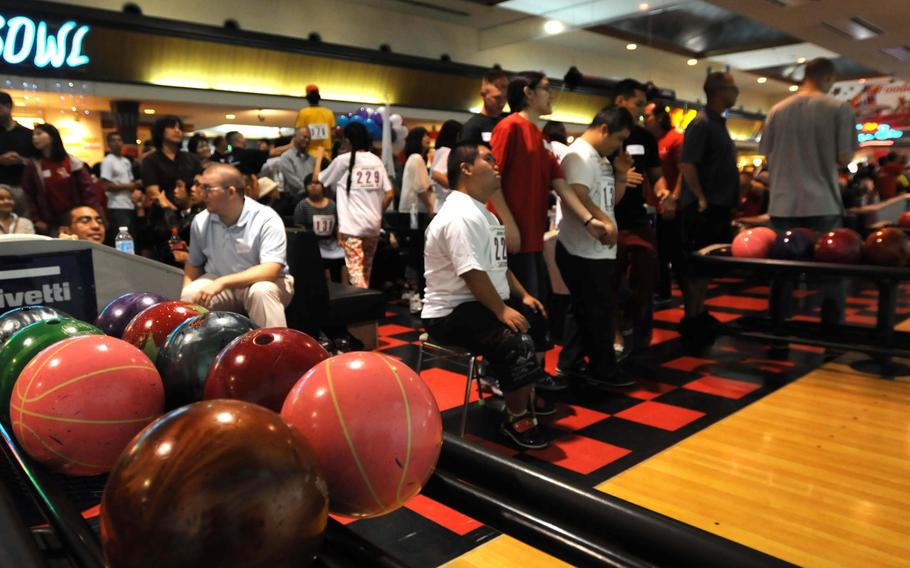 More than 260 athletes compete at the 14th-annual Kadena Special Olympics bowling event in Chatan, Okinawa, Sept. 21, 2013.