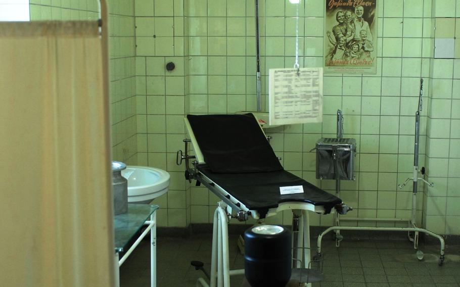 A decades-old infirmary is preserved and displayed at Stadtmuseum Schwabach in Schwabach, Germany.
