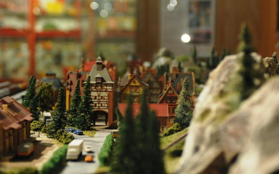 An intricate model railroad layout at Stadtmuseum Schwabach in Schwabach, Germany.