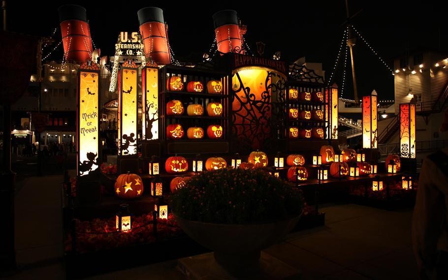 Halloween decorations at Disney Sea in Tokyo.