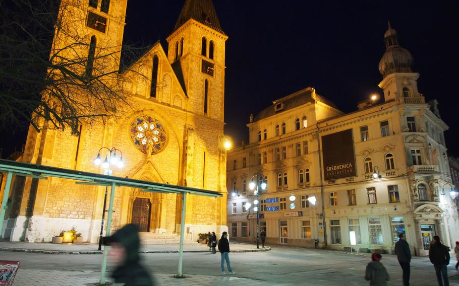 Downtown Sarajevo, Bosnia-Herzegovina, is a great base for ski trips and has a buzzing, historical city worth exploring in its own right.