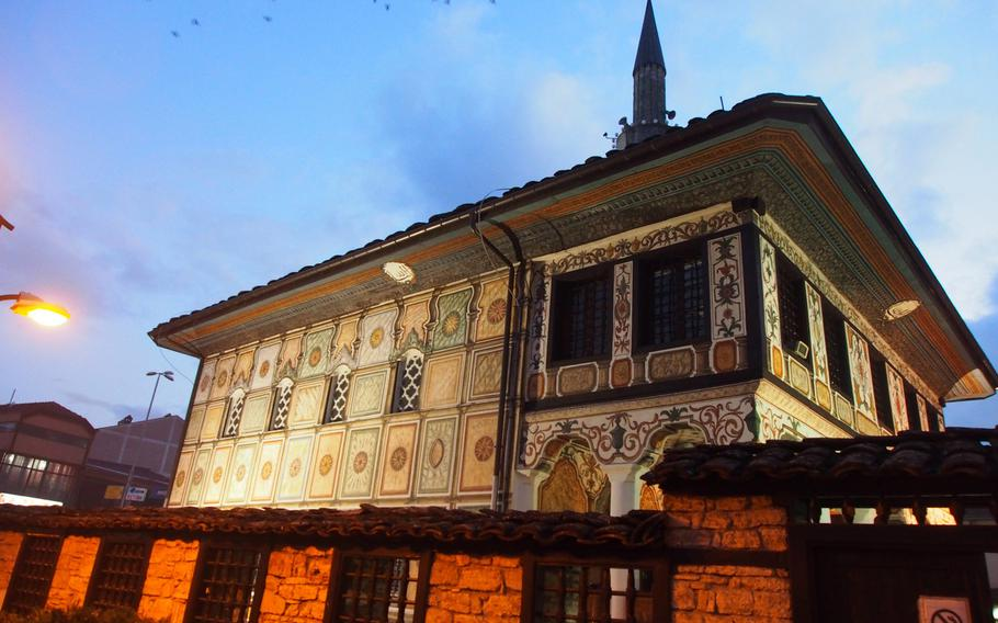 The 15th century Painted Mosque in Tetovo, Macedonia, which lies between the Eskimo Freeride backcountry snowcat operation and the capital, Skopje.