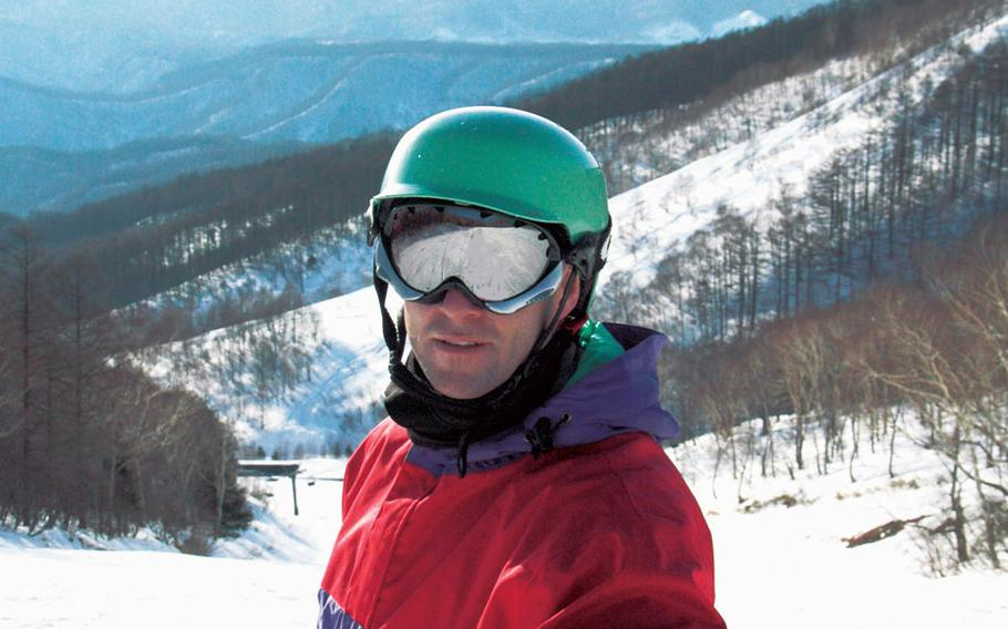 Stars and Stripes reporter Seth Robson on a break from skiing at Kawaba last winter.