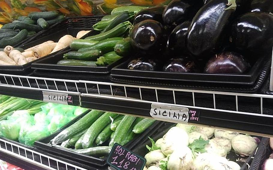 Hastily made labels giving the origins of Italian-grown vegetables and fruit appeared in the Naples commissary after recent media reports on toxic dumping in the area.