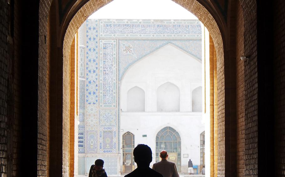 Entrance to the Jami Mosque, in Herat, a regional capital in the far west of Afghanistan.