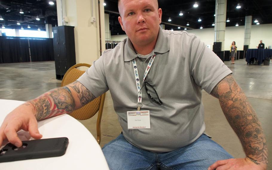 Tim Wynn, who served in Iraq with the Marines, went from in and out of jail to a mentor for other veterans after graduating from a veterans treatment court. More and more jurisdictions are setting up the courts, which aim for rehabilitation as an alternative to incarceration for veterans facing criminal charges.