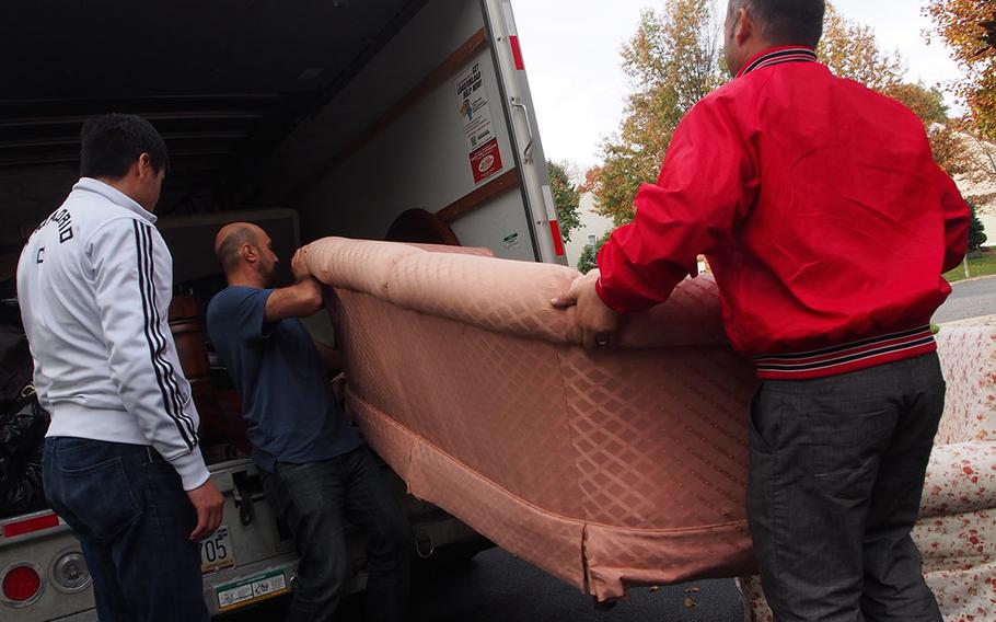 Former U.S Army interpreters deliver furniture and clothing in Maryland to their colleagues who recently arrived in America, most on a special visa program aimed at translators under threat in Afghanistan and Iraq.