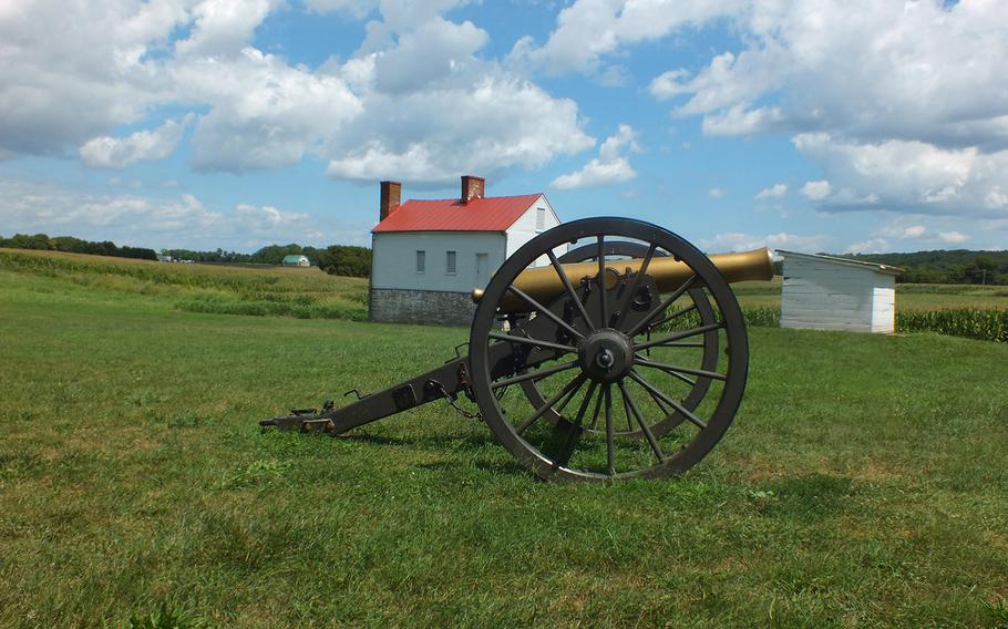 This Civil War cannon sits at John Best farm just outside Frederick, Md., where the Battle of Monocacy began on July 9, 1864. Monocacy offers military history buffs a chance to wander at leisure through the battle sites without fighting the crowds of better-known parks such as Gettysburg in Pennsylvania.