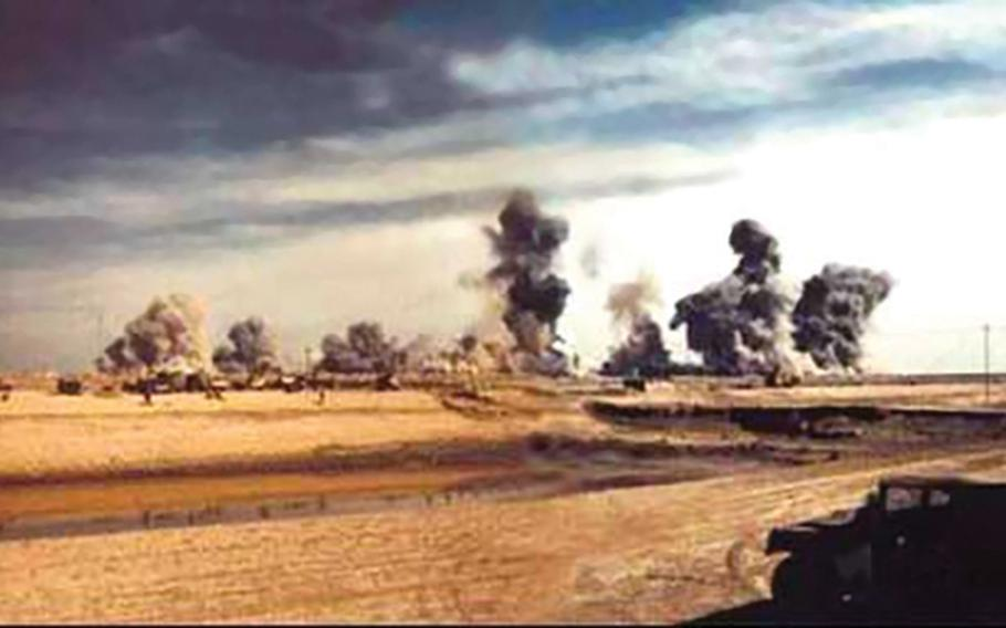24p na     Demolition of bunkers in March 1991 in Khamisiyah, Iraq