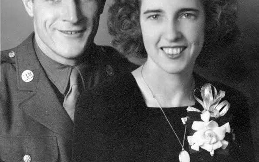 Otto Anderson and his wife, Edith, in a photo taken for their wedding in 1942.