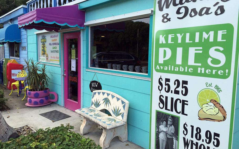 Midway Cafe in Islamorada is a great place to grab a snack and delicious key lime pie while biking in the Keys. (Lori Rackl/Chicago Tribune/TNS)