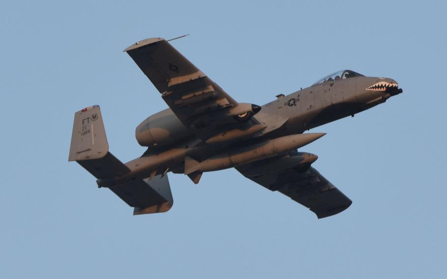 A U.S. Air Force A-10 Thunderbolt II flies overhead July 15, 2017, at Incirlik Air Base, Turkey. The A-10s are deployed here from the 74th Fighter Squadron, Moody Air Force Base, Georgia, in support of Operation Inherent Resolve.         A U.S. Air Force A-10 Thunderbolt II taxis to a parking spot from the flight line July 15, 2017, at Incirlik Air Base, Turkey. The A-10s are deployed here from the 74th Fighter Squadron, Moody Air Force Base, Georgia, in support of Operation Inherent Resolve. (U.S. Air Force photo by Airman 1st Class Kristan Campbell)         4 of 4  DOWNLOAD HI-RES  /   PHOTO DETAILS        A U.S. Air Force A-10 Thunderbolt II taxis to a parking spot from the flight line July 15, 2017, at Incirlik Air Base, Turkey. The A-10s are deployed here from the 74th Fighter Squadron, Moody Air Force Base, Georgia, in support of Operation Inherent Resolve. (U.S. Air Force photo by Airman 1st Class Kristan Campbell)      An A-10 Thunderbolt II taxis on the runway July 15, 2017, at Incirlik Air Base, Tur