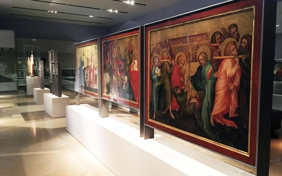 Medieval paintings are among the artwork on exhibit at the Germanisches National Museum in Nuremberg. It's said to be the largest cultural history museum in the German-speaking world.