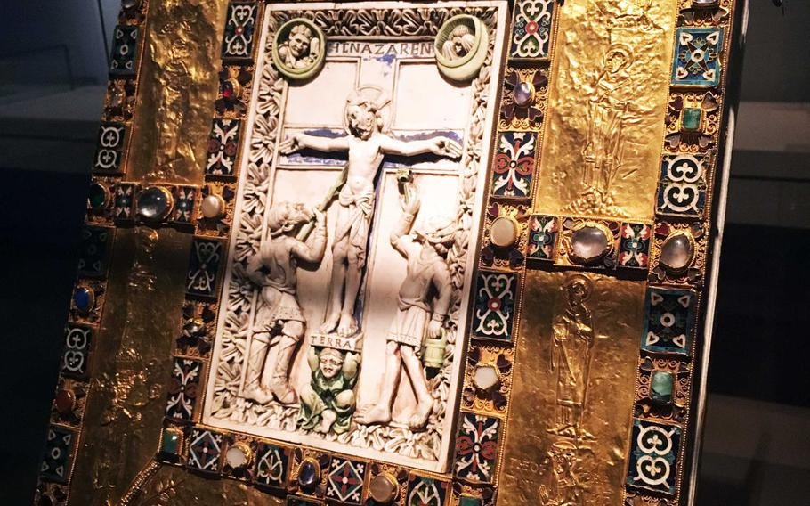 A 1,000-year-old gold-bound bible is among the treasures at the Germanisches National Museum in Nuremberg, Germany.