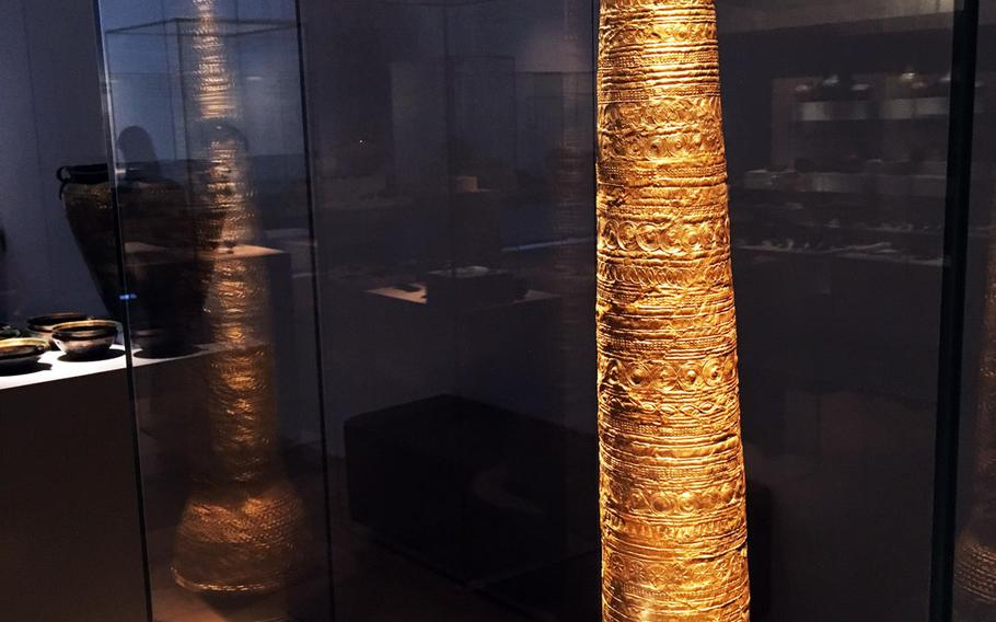 This gold, bronze-age sun priest ceremonial hat is among more than a million artifacts and works of art at the Germanisches National Museum in Nuremberg, Germany.