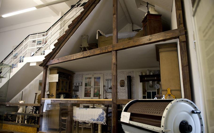 A replica mining cottage inside the Saarland Mining Museum has items on display that the typical miner would use in their daily lives.